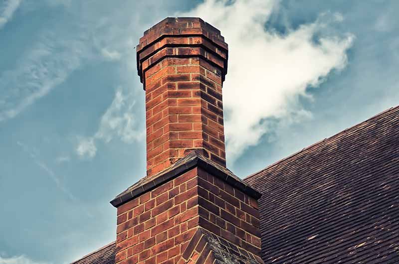 chimney on old building